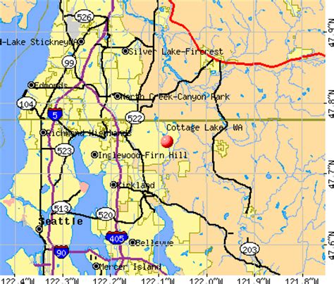 cottage lake wa lake washington map