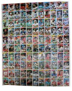 lot detail three sheets of 1984 topps football cards all 132 cards present rookies