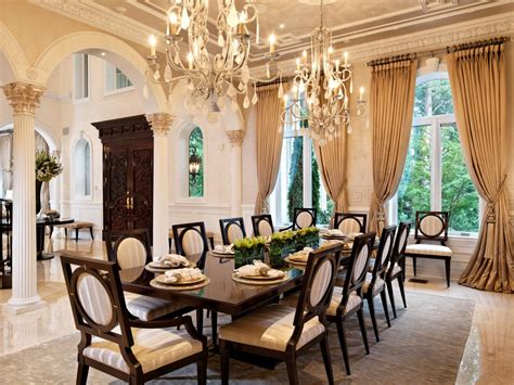 elegant chandeliers dining room dining space the entryway s open archways allow easy
