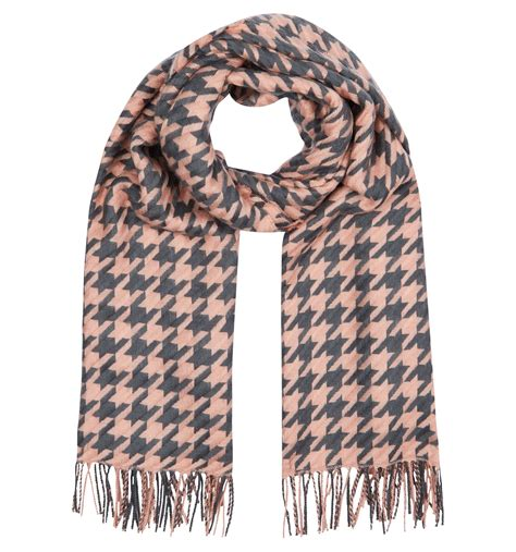 hobbs dogtooth scarf in pink lyst