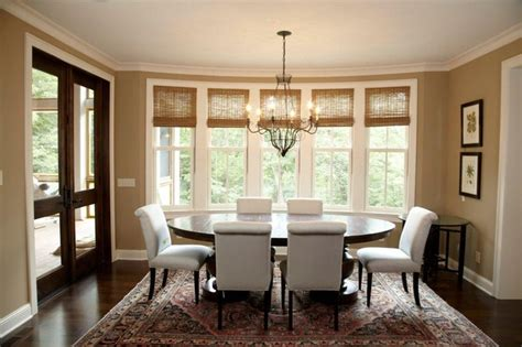 Dining Room Windows Woven Wood Shades Tie Rooms Together