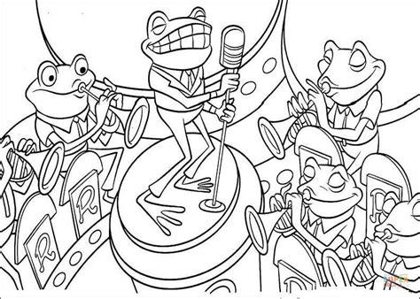 jazz music coloring pages ett band av grodor m 229 larbok gratis m 229 larbilder att skriva ut