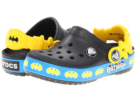 Crocs Batman 1 crocs batman clog toddler kid zappos free shipping both ways