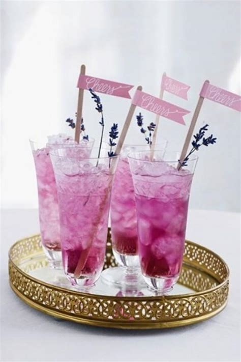 lavender cocktail pink fresh lavender cocktail for pink weddings 1920045