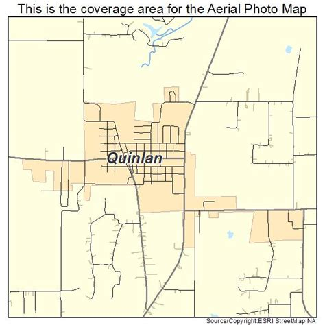 quinlan texas map aerial photography map of quinlan tx texas