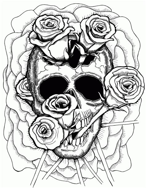 anatomy coloring book skull trippy in coloring pages coloring home
