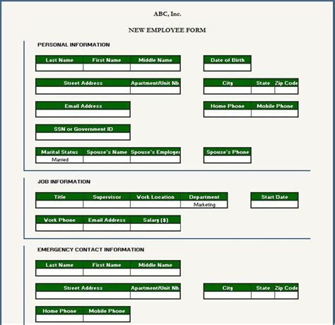 Employee Information Template Excel by Free Data Collection Templates On Excel December 2013
