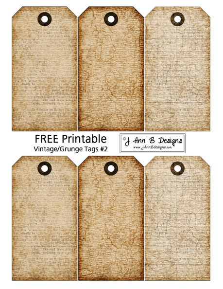 printable luggage tags pinterest vintage grunge tags 2 free printable scrapbooking