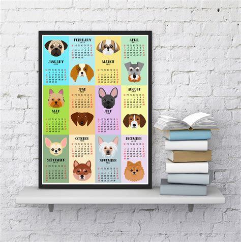 libro art gallery calendar 2018 2018 dog calendar art prints by christa dog milk