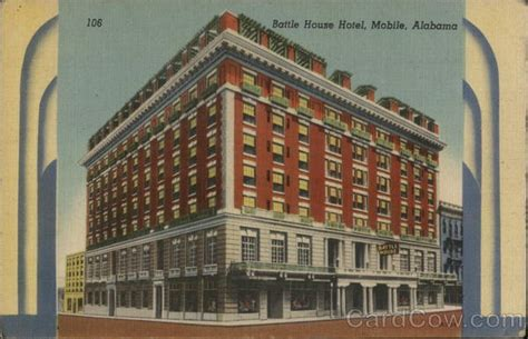battle house mobile battle house hotel mobile al postcard