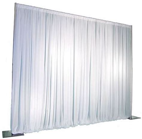 white pipe and drape backdrop pipe drape voile 14ft white linens and events