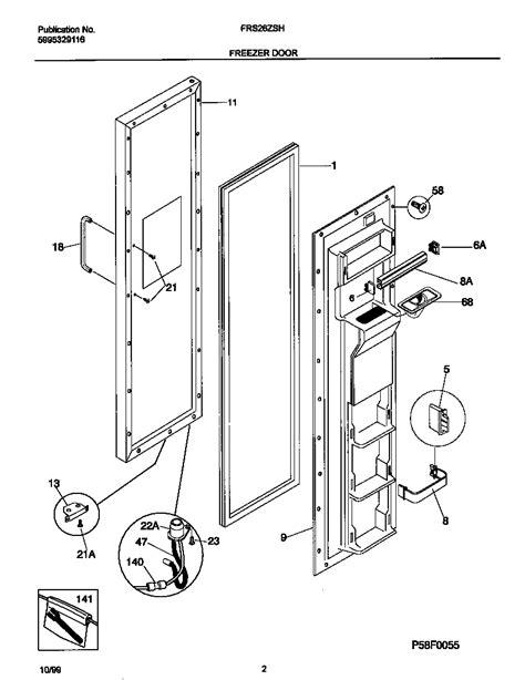 frigidaire refrigerator parts diagram frigidaire refrigerator wiring diagram parts model