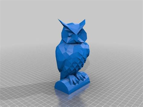 Owl Papercraftsquare Free Papercraft - animal paper model lowpoly owl ver 3 free template