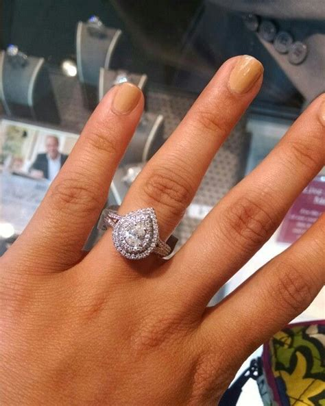 wedding ring neil teardrop neil engagement ring wedding rings