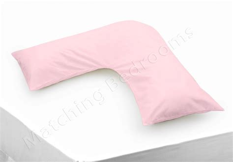 new v shaped pillow v pillowcase polycotton colours ebay