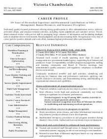 sle cover letter sle resume executive director