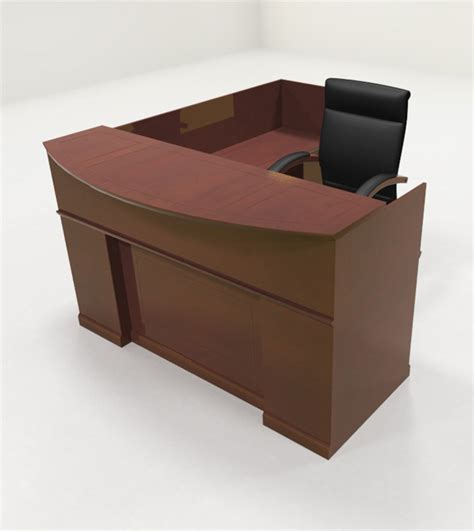 Traditional Reception Desk 4pc Traditional L Shaped Executive Counter Reception Desk Set Ro Sor R3 Ebay