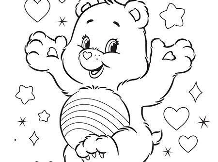 cheer bear coloring pages never fear cheer is here care bears activity care bears