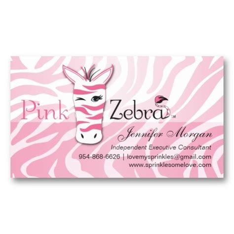 Pink Zebra Business Card Template by Pink Zebra Business Card Pink Zebras And Home