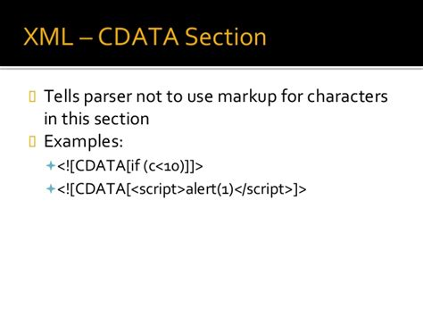 cdata section xml xpath injections