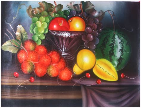 Lukisan Bunga Buah lukisan abstrak panel bunga buah panen binatang dll