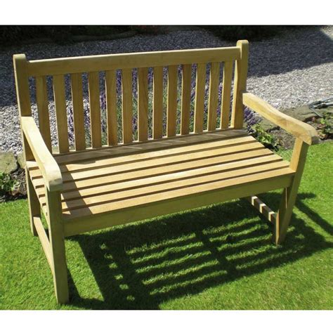 chunky garden bench rondeau leisure chunky teak 150cm bench on sale fast