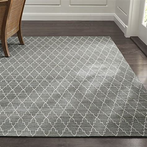Grey Rug Tochi Grey Rug Crate And Barrel