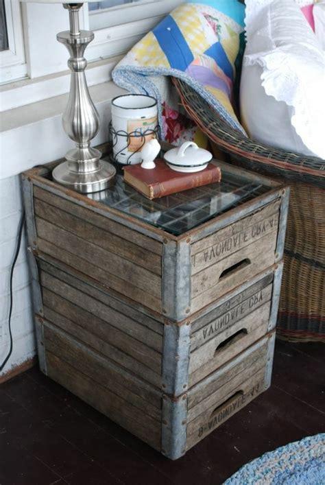 table de nuit en verre 1001 id 233 es et tutos pour fabriquer un meuble en cagette