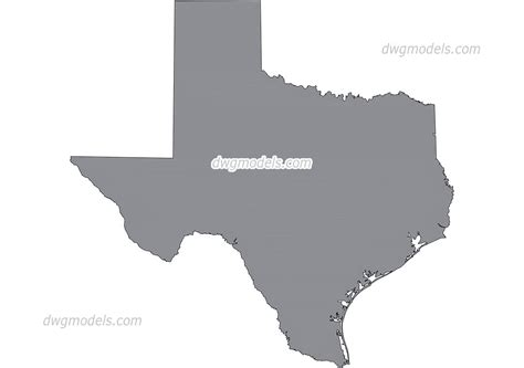 map  texas vector autocad eps png  files