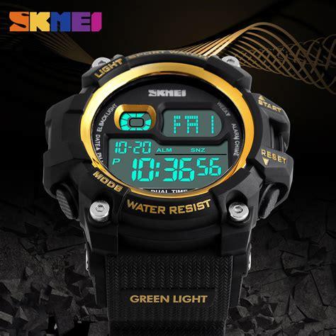 Jam Tangan Pria Skmei Olahraga Sporty Dg1229 Limited 1 skmei jam tangan olahraga sporty pria dg1229 black