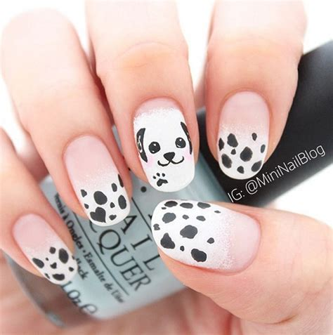 puppy nails 30 creative black and white nail designs