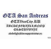 The Official Font For GTA San Andreas