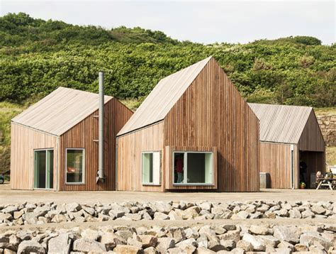 nordic boat house cubo s geometric wooden hammerhavn houses reflect danish