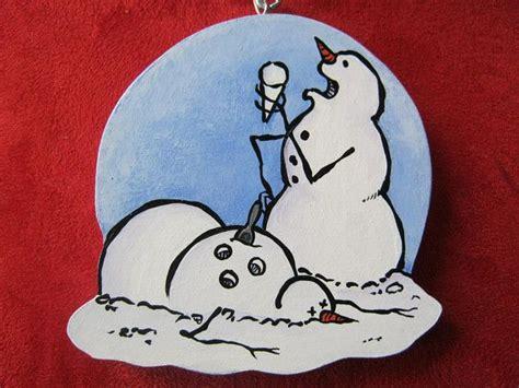 calvin and hobbes snowmen ornament lazardo art