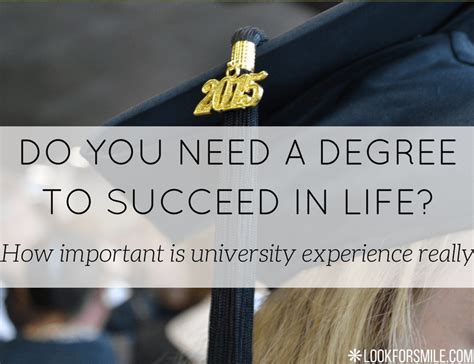 Do You Need A Degree To Do An Mba by Degree And Success In Lookforsmile