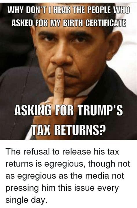 Tax Return Meme - 25 best memes about trump taxes trump taxes memes