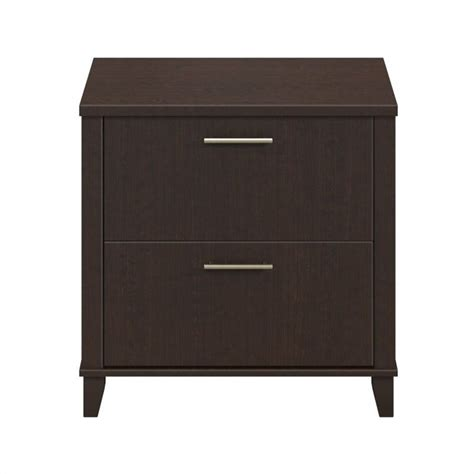 bush somerset lateral file cabinet bush somerset 2 drawer lateral file cabinet in mocha