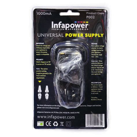 Adaptor Multi Volt universal uk power supply 1000ma psu adaptor multi voltage