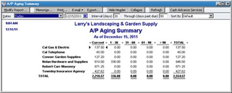What Reports From Quickbooks Are Needed For Taxes by Figure 4 The A P Aging Summary Helps You Determine When Bills Are Slipping Into Overdue Status