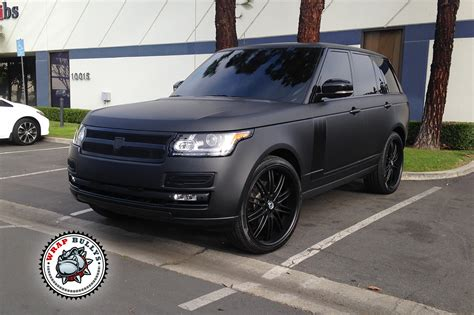 range rover car black range rover autobiography wrapped in 3m matte black