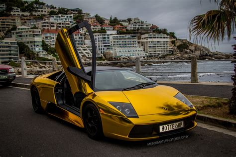 Lamborghini Murcielago gold chrome coupe Vinyl wrap cars