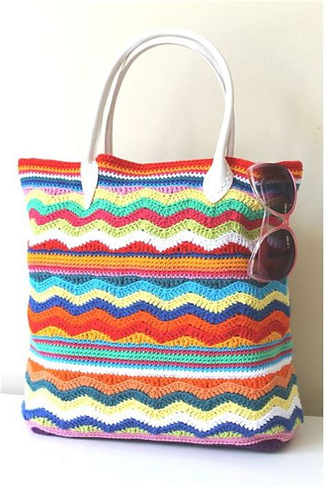 Crocheted Tote From Global by Best 25 Chevron Crochet Patterns Ideas On