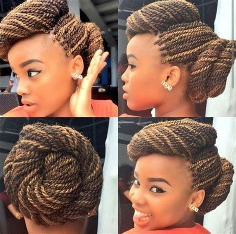 twisted bun hairstyle on american 10 chic african american braids the hot new look