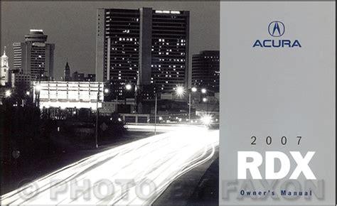 car repair manual download 2007 acura rdx lane departure warning 2007 acura rdx owners manual original