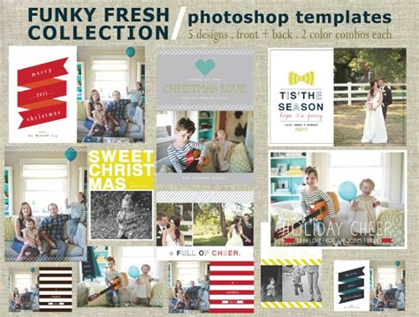 16 christmas card photoshop templates images photoshop