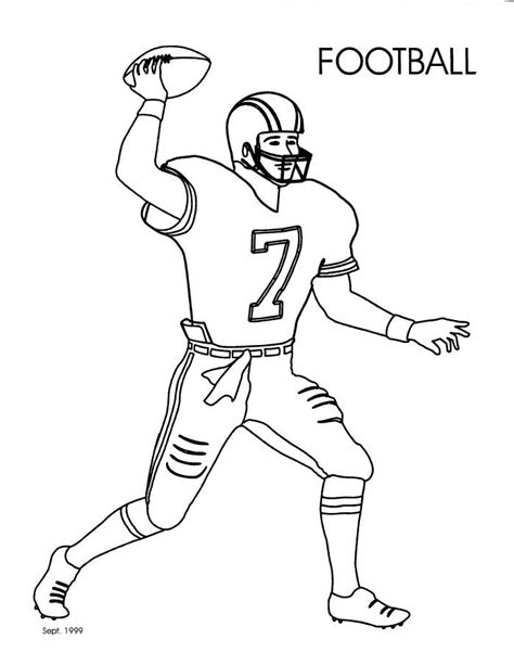 coloring book pages of football players pinterest the world s catalog of ideas