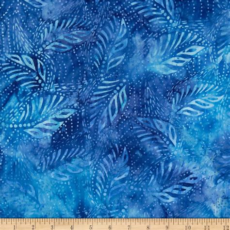 Blus Batik By I Am Collection by Timeless Treasures Tonga Batik Reef Leaves Blue Discount