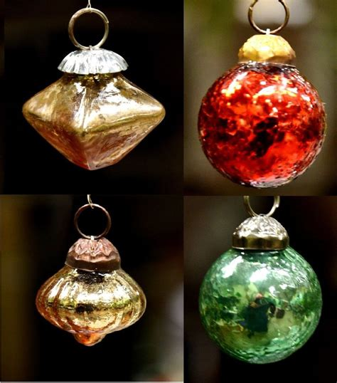 miniature glass tree with ornaments mini glass bauble tree ornament from india