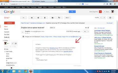 dropbox indonesia cara mendapatkan free space 23gb di dropbox gratis