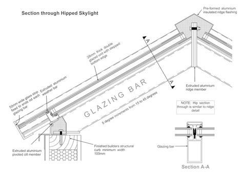 Skylight Construction Drawing skylight drawing bischell construction ltd